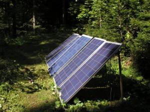 Solarzellen im Einsatz